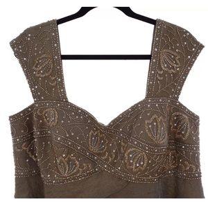 32f84a70b9a Ignite Evenings Dresses - 16W 1X▫️BEADED IRIDESCENT TIERED DRESS Plus Size